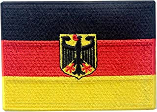 German Coat of Arms Flag Embroidered Patch Germany Eagle Iron On Sew On Bundesdienstflagge
