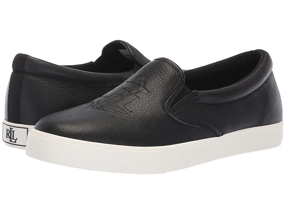 LAUREN Ralph Lauren Ricci (Black Tumbled Leather) Women