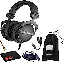 Beyerdynamic DT 770 Pro 32 Ohm Closed-Back Studio Recording Headphones Bundle -Includes- Soft Case, Headphone Splitter and...