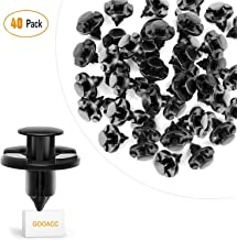 GOOACC GRC-09 40 Pcs Clips Nylon Bumper Fastener Rivet OEM Replacement-#01553-09321 Fender Liner and Radiator 8mm-40PCS