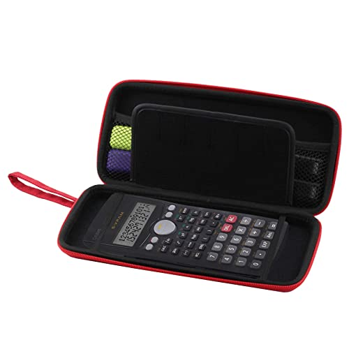 Navitech Rouge Housse de calculatrices Protection de Graphiques/Scientifique /financières calculatrices avec Pochette pour Texas Instruments TI-36X Pro