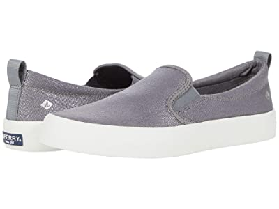 Sperry Crest Twin Gore Sparkle Textile (Silver) Women