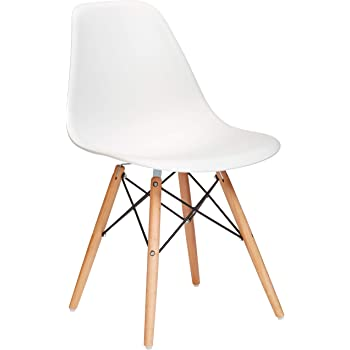 Phoenix Home Dining Chair, Single, Natural/White