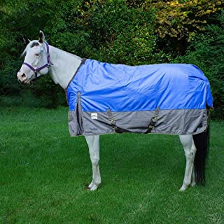 Rugged Ride 1200 Denier Midweight Waterproof Turnout Blanket - with Grey Skirt - 200 gram Fill