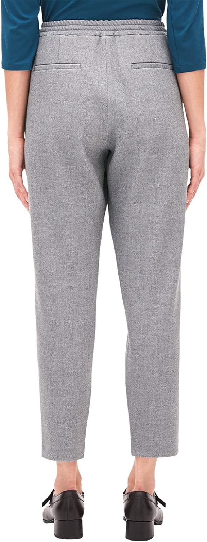 s.Oliver BLACK LABEL Pantalon Femme Gris (Grey Melange 9720)