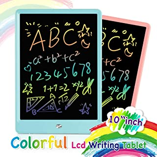 ORSEN LCD Writing Tablet 2 Pack, 10 Inch Colorful Doodle Board Drawing Tablet, Educational Drawing Board Writing Pad, Boys Girls Toys Gifts for 2-6 Year Old Girls Boys(Pink Blue 2 Pack)