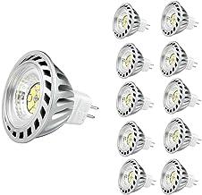 CYLED 12V6W Mr16 Led Bulbs -4500K Spotlight - 500 Lumen, 50Watt Equivalent - 45 Degree Beam Angle Pack of 10 Units Day White