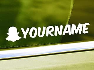 Custom Snapchat Name Vinyl Decal - Personalized Snapchat Username Sticker - Vinyl Car Decal - Social Media Car Window Vinyl Decal Sticker