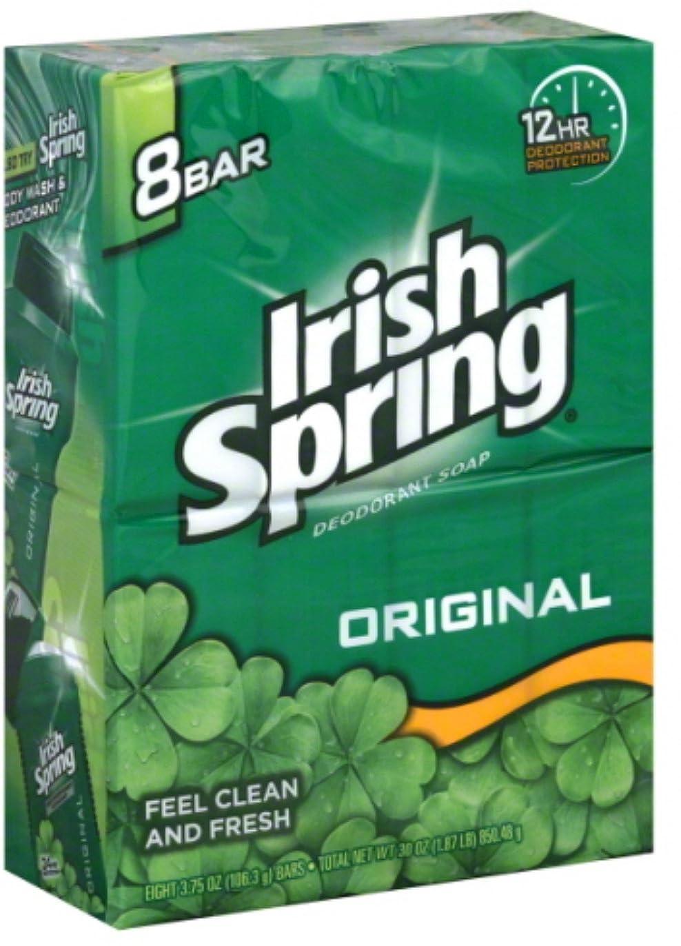 士気腹痛炭水化物Irish Spring デオドラントソープオリジナル - 8のCt