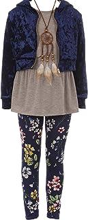 BNY Corner 4 قطعه جلیقه مخزن بالا گردنبند پشمی زمستانی دخترانه زمستانی شلوار 4-14