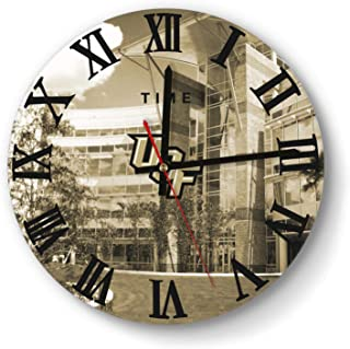 LMQI Wall Clock Creative University-of-Central-Florida-Knights-Football-Golden-Photo- Style Silent Digital Clock for Home