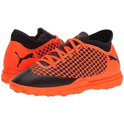 Puma Kids Future 2.4 TT Soccer (Little Kid/Big Kid) (Puma Black/Shocking Orange) Kids Shoes