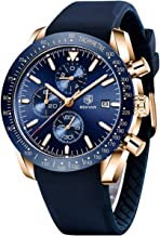 Relojes Hombre BENYAR Cronógrafo Analógico Cuarzo 3AMT Impermeable Silicona Deportivo Diseño Casual de Negocios Relojes de Pulsera Regalo Elegante para Hombre