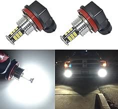 Alla Lighting 2000 Lumens H8 H16 H11 LED Bulbs High Power 3020 30-SMD Super Bright H8 H11 LED Fog Lights Bulbs 6000K White H16 H8 H11 LED Bulb for Fog Light DRL Bulbs Lamps Replacement