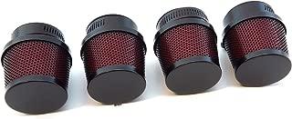 Set of 4 Small Black & Red 39mm Air Filter Pod Set - Honda CB500 CB550 CB750