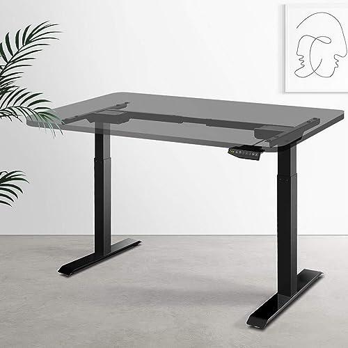 Artiss Height Adjustable Standing Desk Frame Motorised Electric Heavy Duty Dual Motors Home Office Workstation Black ...
