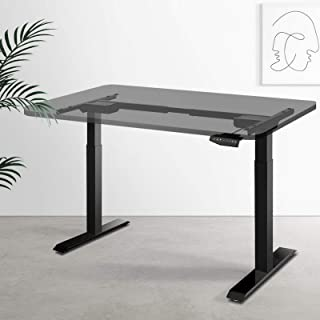 Artiss Height Adjustable Standing Desk Frame Motorised Electric Heavy Duty Dual Motors Home Office Workstation Black - Fra...
