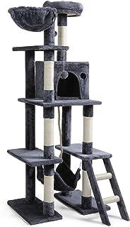 rabbitgoo Cat Tree Cat Tower 155CM Multi-Level Kitten House Condo with Scratching Posts & Hammock, Large Cat Stand Furnitu...