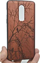 VolksRose OnePlus 6 Wooden Case - Premium Quality Natural Wood Hard Case Shock Absorbing Protective Phone Cover - Rosewood Tree and PC