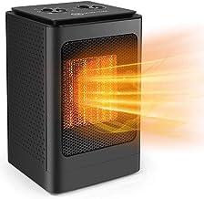 WASDY Calefactor PTC Calefacción De Cerámica 1500W Calefactor De Aire Caliente Silencioso Ventilador Calefactor con Ahorro De Energía con Protección contra Sobrecalentamiento para Hogar Y Oficina