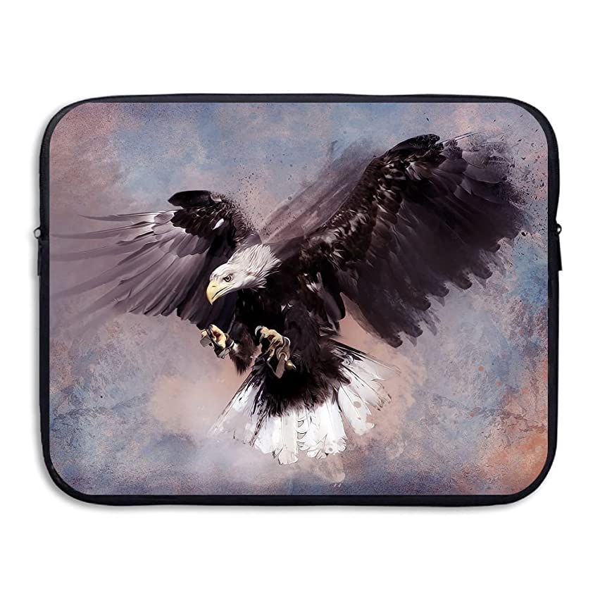 Fonsisi Laptop Storage Bag Eagle Paint Art Portable Waterproof Laptop Case Briefcase Sleeve Bags Cover