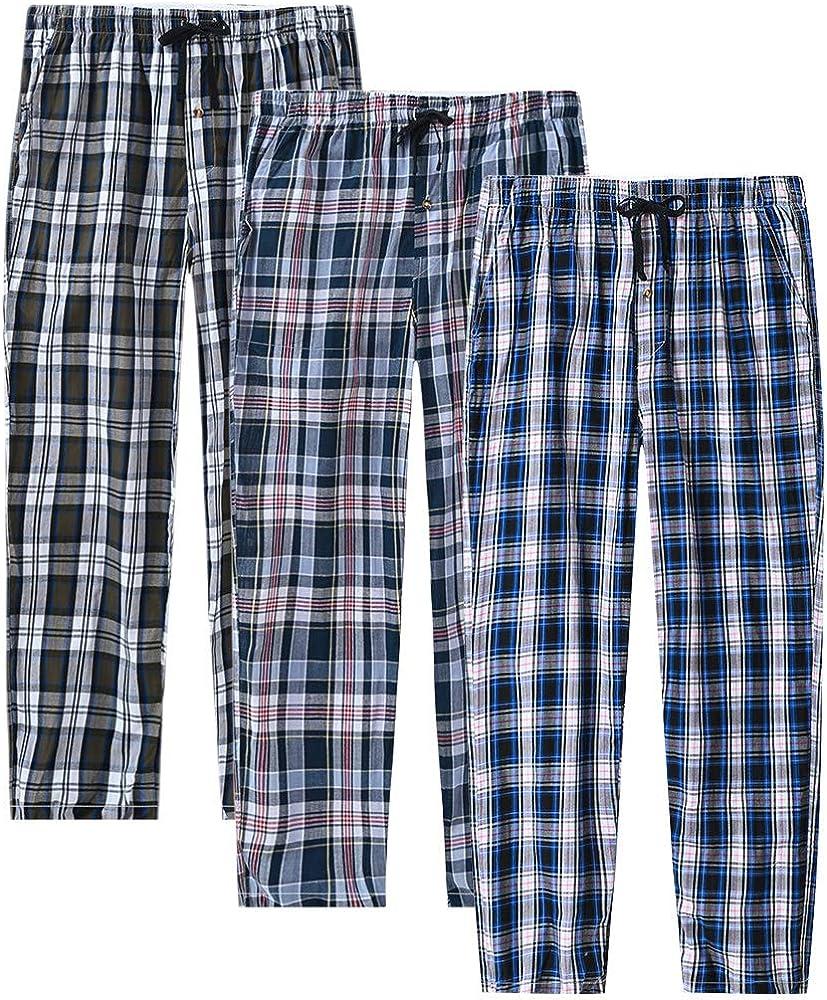 MoFiz Men's Pajama Pants Ultra Lightweight Pjs Bottoms Sleepwear Bottom  Pants with Pocket Drawstring 3-Pack at Amazon Men's Clothing store