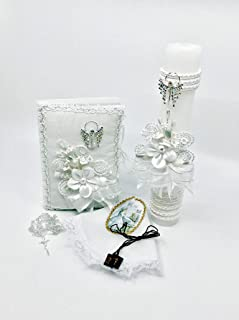 First Communion Candle Set for a Girl