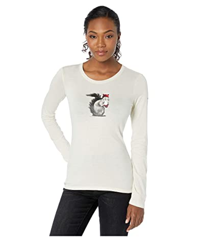 Columbia Ruby Fallstm Long Sleeve Tee (Chalk/Squirrel Play) Women