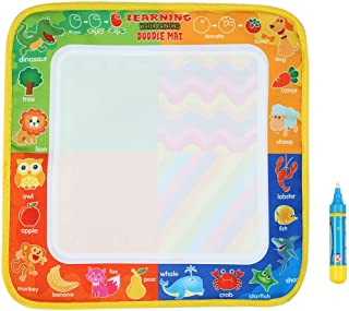 Goolsky Water Drawing Mat Non-toxic Water Drawing Mat Board Painting and Writing Doodle With Magic Pen for Baby Kids 29 * ...