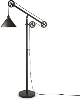 Henn&Hart FL0022 Counterweight Pulley Lamp, One Size, Black