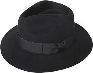Wool Felt Fedora Hat Mens Western Outback Safari Wide Brim Hats