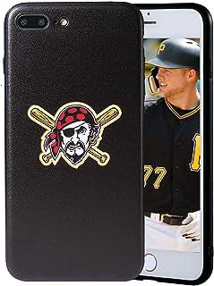 "Sportula MLB Phone Case Matching 2 Premium Screen Protectors Extra Value Set - for iPhone 7 Plus/iPhone 8 Plus (5.5"") (Pit..."