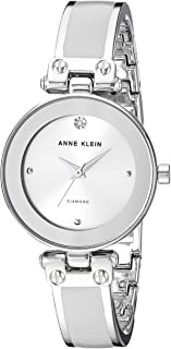 Anne Klein Womens Goldtone Diamond Dial Watch