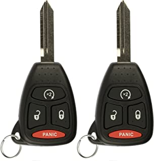 KeylessOption Keyless Entry Remote Start Control Car Key Fob Replacement for KOBDT04A (Pack of 2)