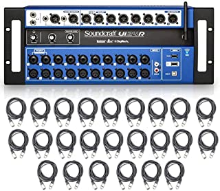 Soundcraft Ui24R 24-Channel Digital Mixer/Multi-Track USB Recorder with 24 AxcessAbles XLR-XLR20 Audio Cables