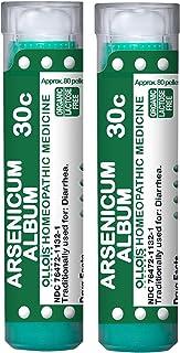 OLLOISOrganic, Lactose-Free Arsenicum Album 30c Pellets, 80 Count, Homeopathic Medicine for Diarrhea- Pack of 2, 160 Count