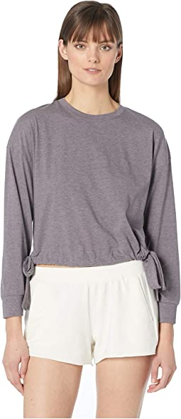 Heather - The Side Tie Sweatshirt