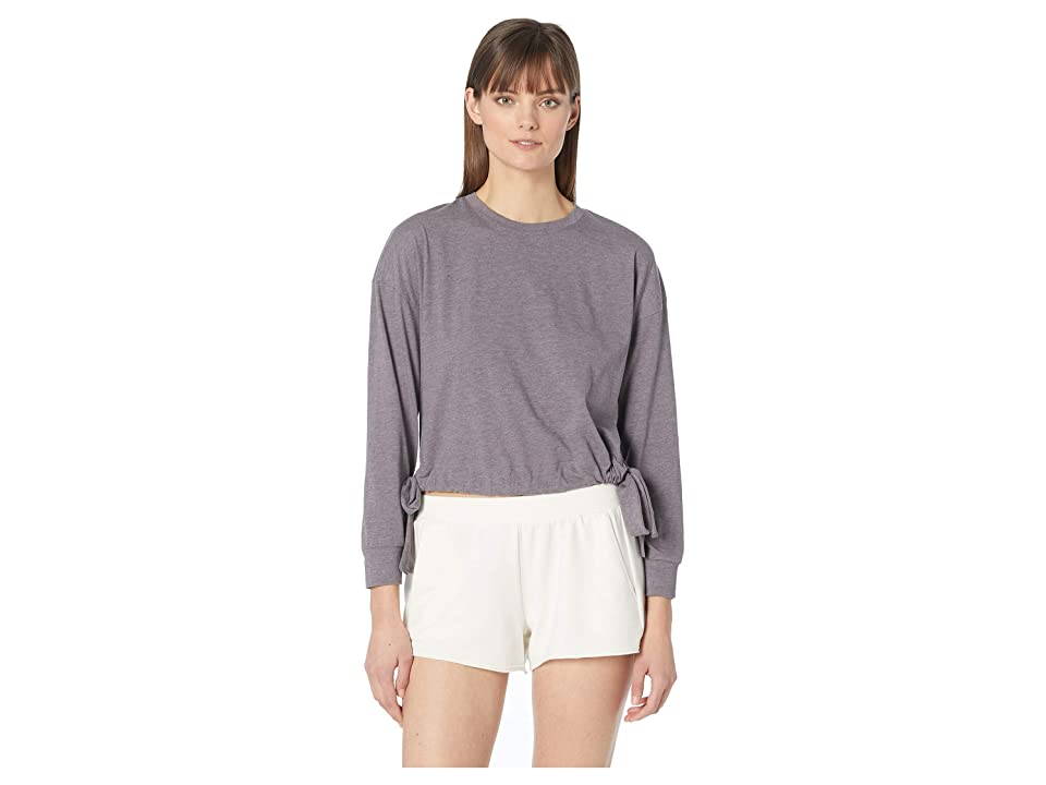 Eberjey Heather The Side Tie Sweatshirt (Rabbit) Women