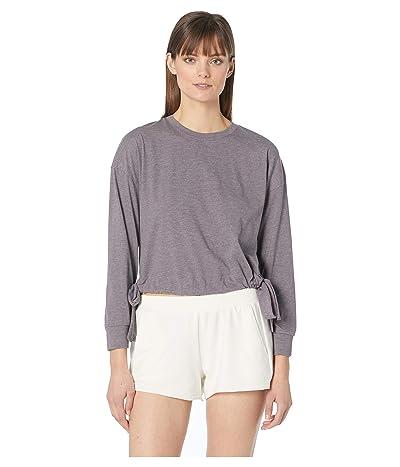 Eberjey Heather The Side Tie Sweatshirt (Rabbit) Women