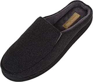 ABSOLUTE FOOTWEAR Mens Slip On Slippers/Mules/Indoor Shoes with Soft Micro Suede Uppers