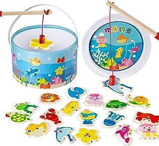 Mumoo Bear 60Pcs Set Magnetic Fishing Toy Game Kids 3 Rod 3D Fish Baby Educational Toys Outdoor Fun Kids Toy mm