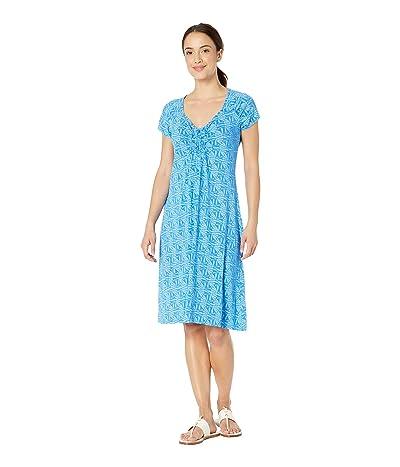 Fresh Produce Tidepool Geo Emma Dress (Atlantic Blue) Women