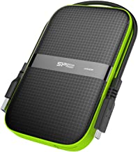 Silicon Power 2TB USB-C USB 3.0 Rugged Portable External Hard Drive Armor A60, Military-Grade Shockproof/Water-Resistant for PC and Mac, Black