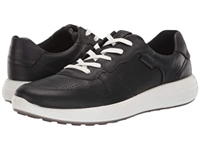ECCO Soft 7 Runner Perforated (Black/Black) Men