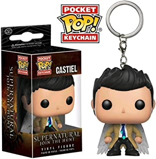 Supernatural CASTIEL With WINGS Keychain Key Ring