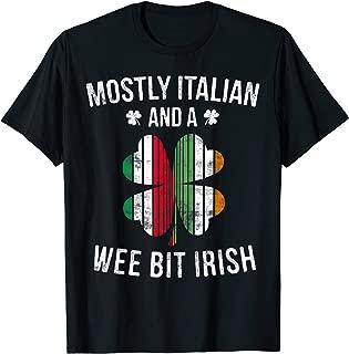 Italian Wee Bit Irish T-Shirt Italy Patrick Day Gifts