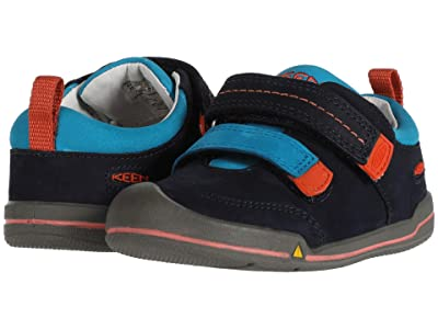 Keen Kids Sprout Double Strap (Toddler) (Dress Blues/Koi) Boy