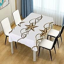 JOSENI Decor Tablecloth Western Stars Scroll Design Ornate Swirls Antique Artistic 54
