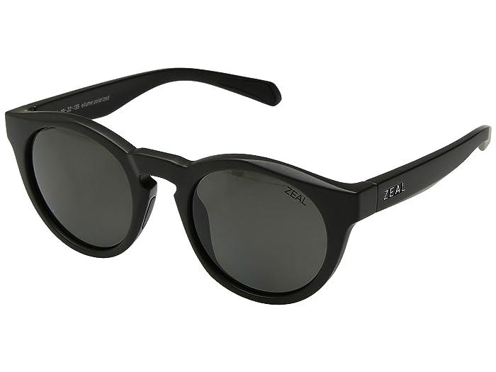 Zeal Optics  Crowley (Matte Black/Polarized Dark Grey Lens) Athletic Performance Sport Sunglasses