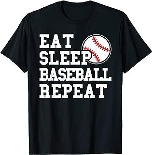 Eat Sleep Baseball Repeat Funny Baseball Player T Shirt